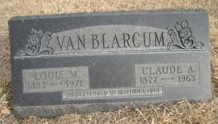 VAN BLARCUM, CLAUDE A. - Sioux County, Nebraska | CLAUDE A. VAN BLARCUM - Nebraska Gravestone Photos
