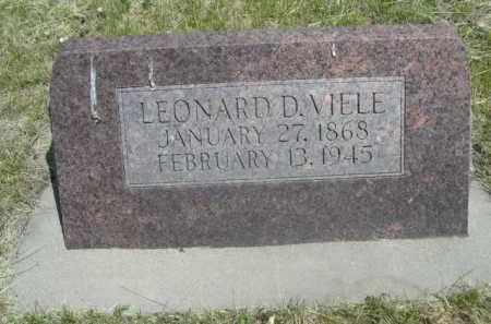 VIELE, LEONARD D. - Sioux County, Nebraska   LEONARD D. VIELE - Nebraska Gravestone Photos