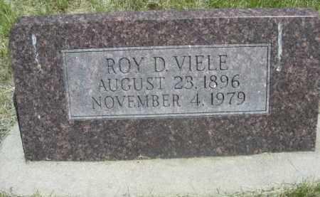 VIELE, ROY D. - Sioux County, Nebraska   ROY D. VIELE - Nebraska Gravestone Photos