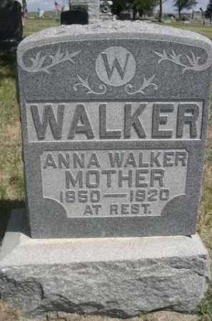WALKER, ANNA - Sioux County, Nebraska | ANNA WALKER - Nebraska Gravestone Photos