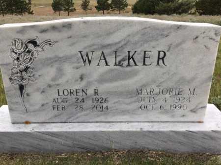 WALKER, MARJORIE M. - Sioux County, Nebraska   MARJORIE M. WALKER - Nebraska Gravestone Photos