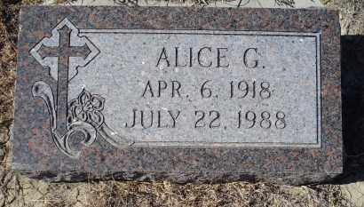 WASSERBURGER, ALICE G. - Sioux County, Nebraska | ALICE G. WASSERBURGER - Nebraska Gravestone Photos