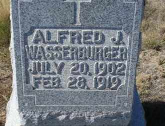WASSERBURGER, ALFRED J. - Sioux County, Nebraska   ALFRED J. WASSERBURGER - Nebraska Gravestone Photos