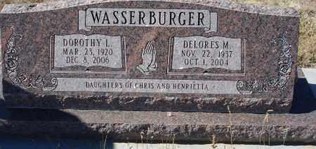 WASSERBURGER, DOROTHY L. - Sioux County, Nebraska | DOROTHY L. WASSERBURGER - Nebraska Gravestone Photos