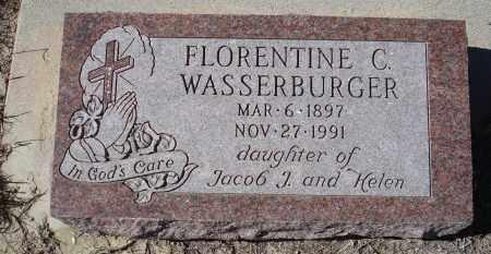 WASSERBURGER, FLORENTINE C. - Sioux County, Nebraska | FLORENTINE C. WASSERBURGER - Nebraska Gravestone Photos