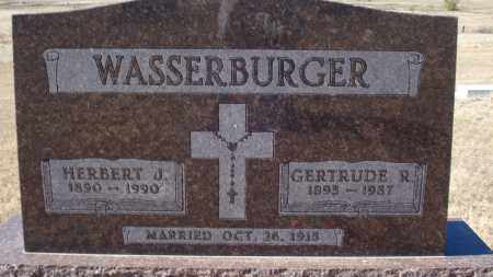 WASSERBURGER, GERTRUDE R. - Sioux County, Nebraska | GERTRUDE R. WASSERBURGER - Nebraska Gravestone Photos
