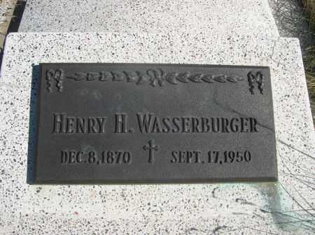 WASSERBURGER, HENRY H. - Sioux County, Nebraska   HENRY H. WASSERBURGER - Nebraska Gravestone Photos