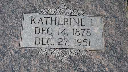 WASSERBURGER, KATHERINE L. - Sioux County, Nebraska | KATHERINE L. WASSERBURGER - Nebraska Gravestone Photos