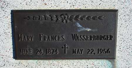 WASSERBURGER, MARY FRANCES - Sioux County, Nebraska | MARY FRANCES WASSERBURGER - Nebraska Gravestone Photos
