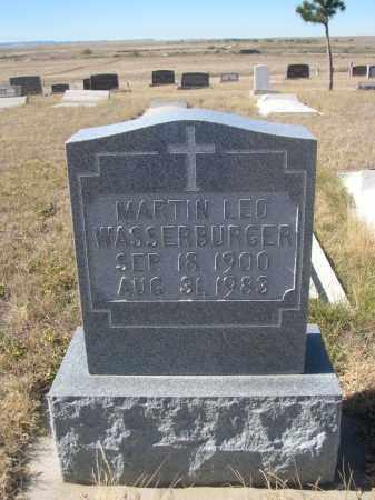 WASSERBURGER, MARTIN LEO - Sioux County, Nebraska   MARTIN LEO WASSERBURGER - Nebraska Gravestone Photos