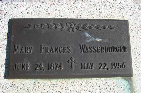WASSERBURGER, MARY FRANCES - Sioux County, Nebraska   MARY FRANCES WASSERBURGER - Nebraska Gravestone Photos