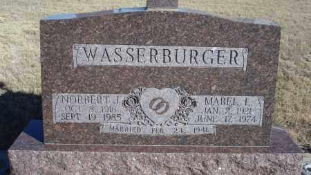 WASSERBURGER, NORBERT J. - Sioux County, Nebraska   NORBERT J. WASSERBURGER - Nebraska Gravestone Photos