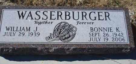 WASSERBURGER, BONNIE K. - Sioux County, Nebraska | BONNIE K. WASSERBURGER - Nebraska Gravestone Photos