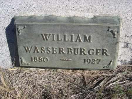 WASSERBURGER, WILLIAM - Sioux County, Nebraska | WILLIAM WASSERBURGER - Nebraska Gravestone Photos
