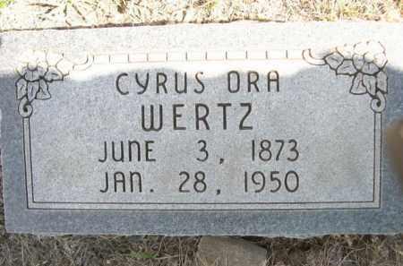 WERTZ, CYRUS ORA - Sioux County, Nebraska | CYRUS ORA WERTZ - Nebraska Gravestone Photos