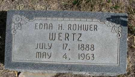 ROHWER WERTZ, EDNA H. - Sioux County, Nebraska   EDNA H. ROHWER WERTZ - Nebraska Gravestone Photos