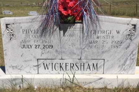 TAYLOR WICKERSHAM, PHYLLIS I. - Sioux County, Nebraska | PHYLLIS I. TAYLOR WICKERSHAM - Nebraska Gravestone Photos