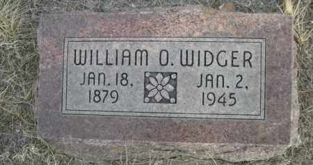 WIDGER, WILLIAM O. - Sioux County, Nebraska | WILLIAM O. WIDGER - Nebraska Gravestone Photos