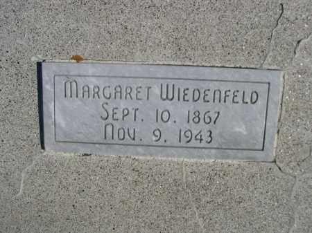 WIEDENFELD, MARGARET - Sioux County, Nebraska   MARGARET WIEDENFELD - Nebraska Gravestone Photos