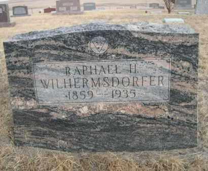 WILHERMSDORFER, RAPHAEL H. - Sioux County, Nebraska   RAPHAEL H. WILHERMSDORFER - Nebraska Gravestone Photos