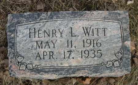 WITT, HENRY L. - Sioux County, Nebraska | HENRY L. WITT - Nebraska Gravestone Photos