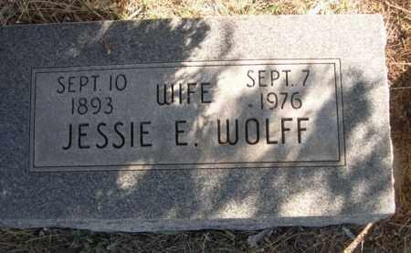 WOLFF, JESSIE E. - Sioux County, Nebraska | JESSIE E. WOLFF - Nebraska Gravestone Photos