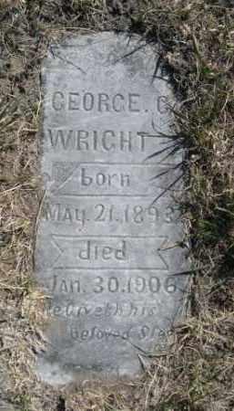 WRIGHT, GEORGE C. - Sioux County, Nebraska | GEORGE C. WRIGHT - Nebraska Gravestone Photos