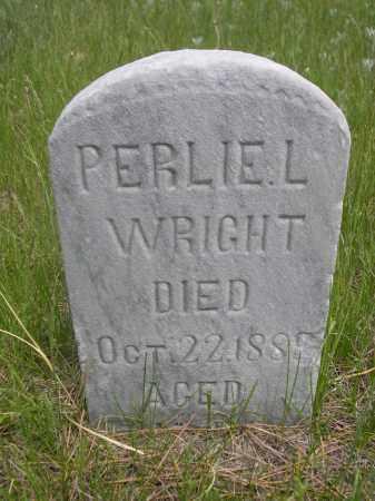 WRIGHT, PERLIE L - Sioux County, Nebraska   PERLIE L WRIGHT - Nebraska Gravestone Photos