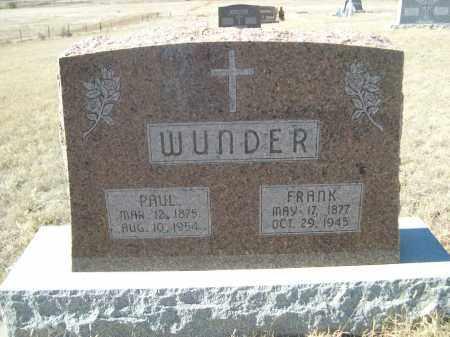WUNDER, FRANK - Sioux County, Nebraska | FRANK WUNDER - Nebraska Gravestone Photos