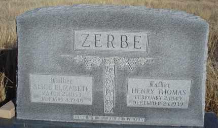 ZERBE, HENRY THOMAS - Sioux County, Nebraska   HENRY THOMAS ZERBE - Nebraska Gravestone Photos
