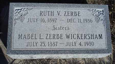 ZERBE WICKERSHAM, MABEL L. - Sioux County, Nebraska | MABEL L. ZERBE WICKERSHAM - Nebraska Gravestone Photos