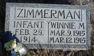 ZIMMERMAN, WINNIE M. - Sioux County, Nebraska | WINNIE M. ZIMMERMAN - Nebraska Gravestone Photos