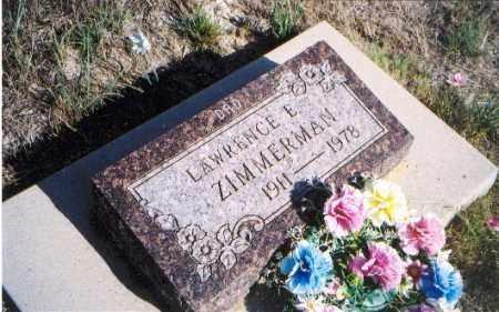ZIMMERMAN, LAWRENCE E. - Sioux County, Nebraska | LAWRENCE E. ZIMMERMAN - Nebraska Gravestone Photos