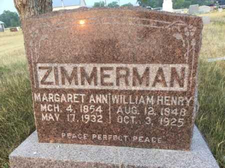 ZIMMERMAN, MARGARET ANN - Sioux County, Nebraska | MARGARET ANN ZIMMERMAN - Nebraska Gravestone Photos