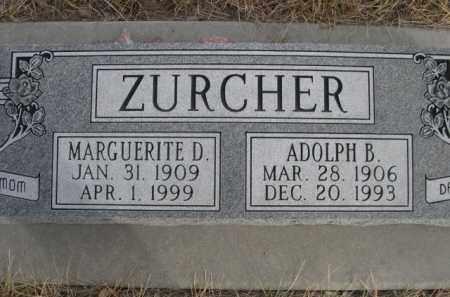 ZURCHER, ADOLPH B. - Sioux County, Nebraska | ADOLPH B. ZURCHER - Nebraska Gravestone Photos