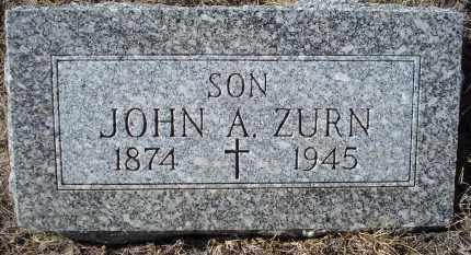 ZURN, JOHN A. - Sioux County, Nebraska | JOHN A. ZURN - Nebraska Gravestone Photos
