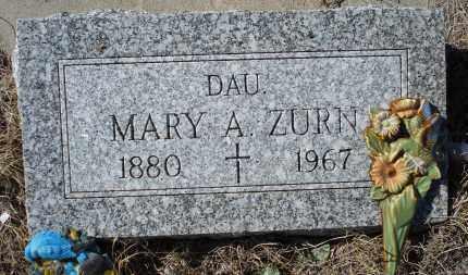ZURN, MARY A. - Sioux County, Nebraska   MARY A. ZURN - Nebraska Gravestone Photos