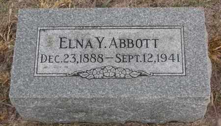 ABBOTT, ELNA Y. - Stanton County, Nebraska | ELNA Y. ABBOTT - Nebraska Gravestone Photos
