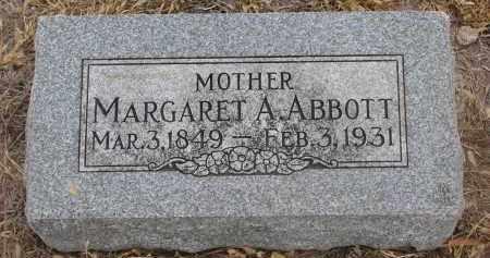 ABBOTT, MARGARET A. - Stanton County, Nebraska | MARGARET A. ABBOTT - Nebraska Gravestone Photos