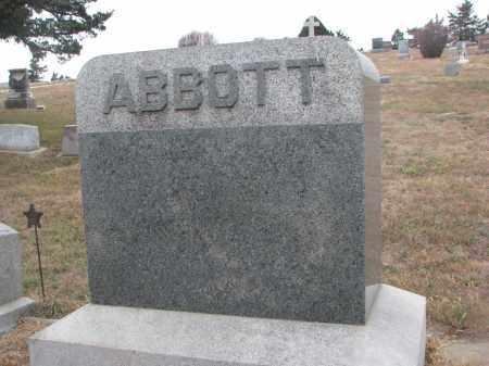 ABBOTT, PLOT STONE - Stanton County, Nebraska | PLOT STONE ABBOTT - Nebraska Gravestone Photos