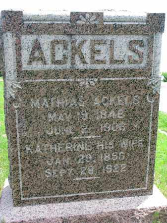 ACKELS, MATHIAS - Stanton County, Nebraska | MATHIAS ACKELS - Nebraska Gravestone Photos