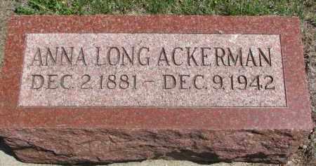 ACKERMAN, ANNA - Stanton County, Nebraska | ANNA ACKERMAN - Nebraska Gravestone Photos