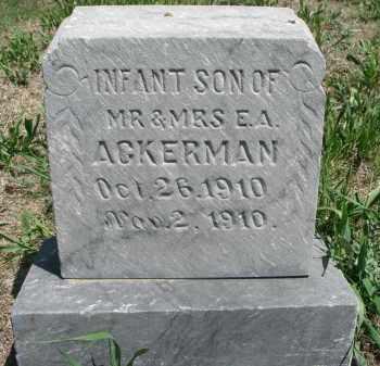 ACKERMAN, INFANT SON - Stanton County, Nebraska | INFANT SON ACKERMAN - Nebraska Gravestone Photos