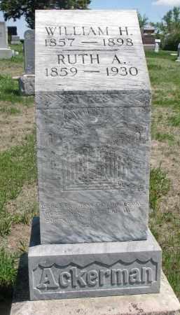 ACKERMAN, WILLIAM H. - Stanton County, Nebraska   WILLIAM H. ACKERMAN - Nebraska Gravestone Photos