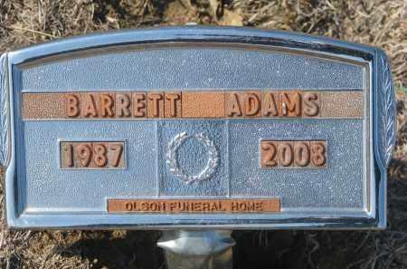 ADAMS, BARRETT - Stanton County, Nebraska | BARRETT ADAMS - Nebraska Gravestone Photos