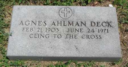 AHLMAN, AGNES - Stanton County, Nebraska | AGNES AHLMAN - Nebraska Gravestone Photos
