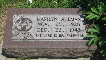AHLMAN, MARILYN - Stanton County, Nebraska   MARILYN AHLMAN - Nebraska Gravestone Photos