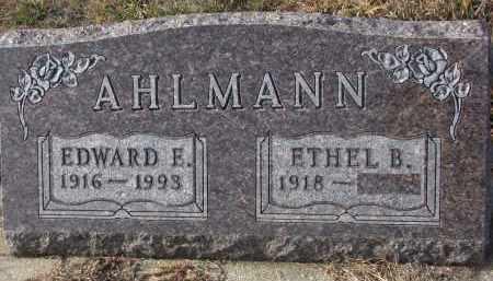 AHLMANN, ETHEL B. - Stanton County, Nebraska | ETHEL B. AHLMANN - Nebraska Gravestone Photos