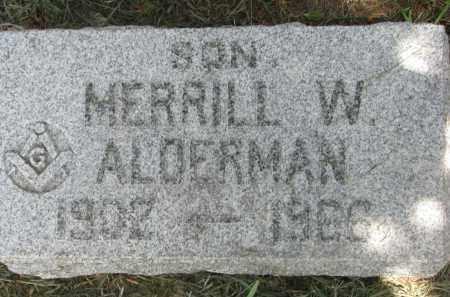 ALDERMAN, MERRILL W. - Stanton County, Nebraska | MERRILL W. ALDERMAN - Nebraska Gravestone Photos