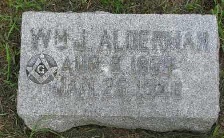 ALDERMAN, WILLIAM J. - Stanton County, Nebraska | WILLIAM J. ALDERMAN - Nebraska Gravestone Photos